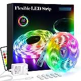 LED Strip RGB 5m LED Licht Streifen SMD 5050 Leds mit Netzteil,...