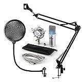 auna - Mikrofonset V4, MIC-900S-LED, 3-teilig,...