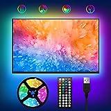 LED TV Hintergrundbeleuchtung,WOANWAY USB LED Strip 2M RGB Fernseher...
