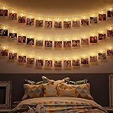 B.K.Licht I 5 Meter LED-Lichterkette mit Klammern für Fotos I...