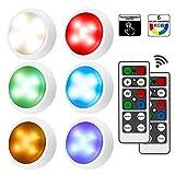 iKALULA Schrankleuchten mit Fernbedienung, RGB Schrank Lichter 6er LED...