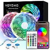 LED Streifen 10M, VOYOMO LED Strips RGB 300LEDs SMD5050, 20 Farben mit...