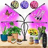 Pflanzenlampe LED Vollspektrum für Zimmerpflanzen,4 Heads 80LEDs...