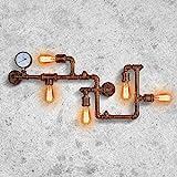 PAKOKULA Vintage Deko Wasserrohr Wandlampe, Industrial Wandleuchte...